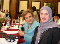 marlene and atefeh at unesco conference