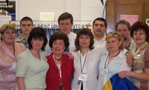 Ukranian participants at Cave Spring High School