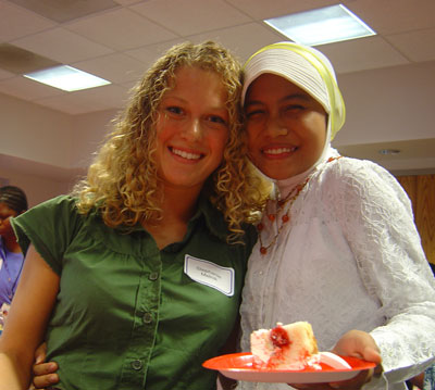U.S. participant and Indonesian participant at GYV