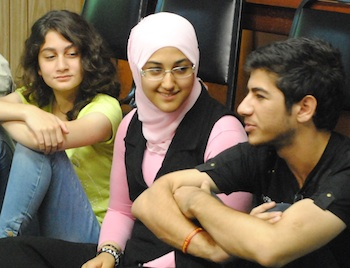 Iraqi participants at the Global Youth Village