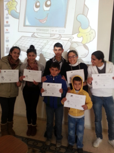Lara and her students