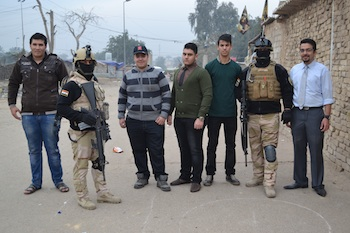 Iraqi Youth receive help from Iraqi army